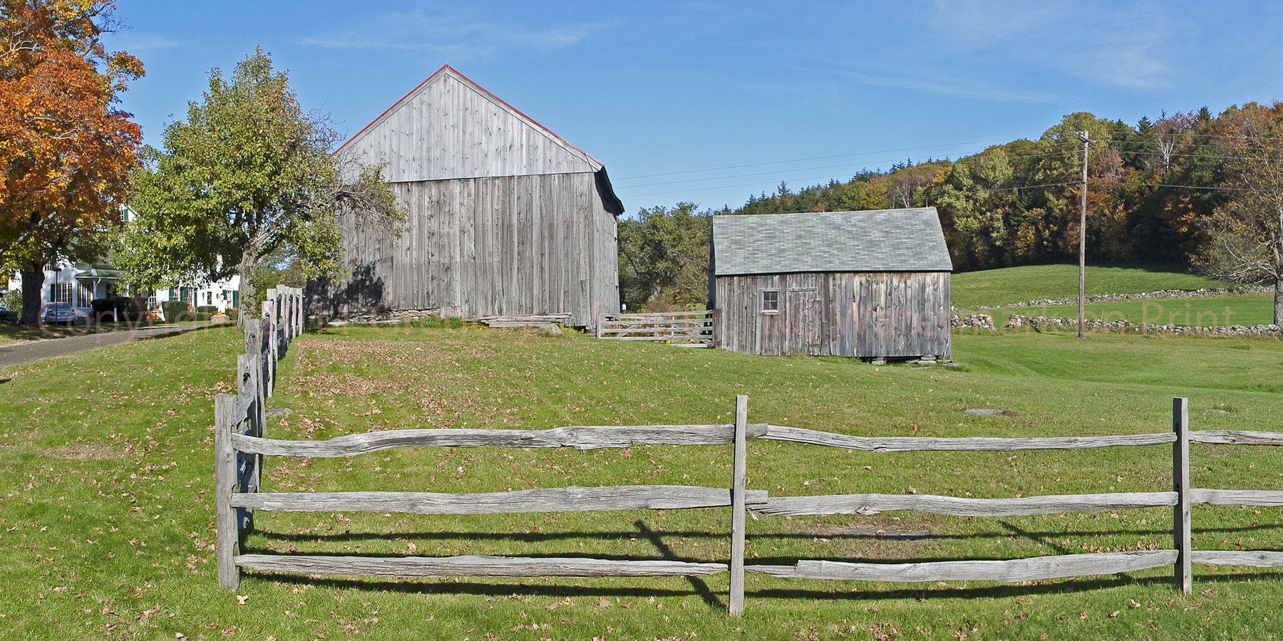 Farm With Split Rail Fence Copyright 2011 Gregory J Scott