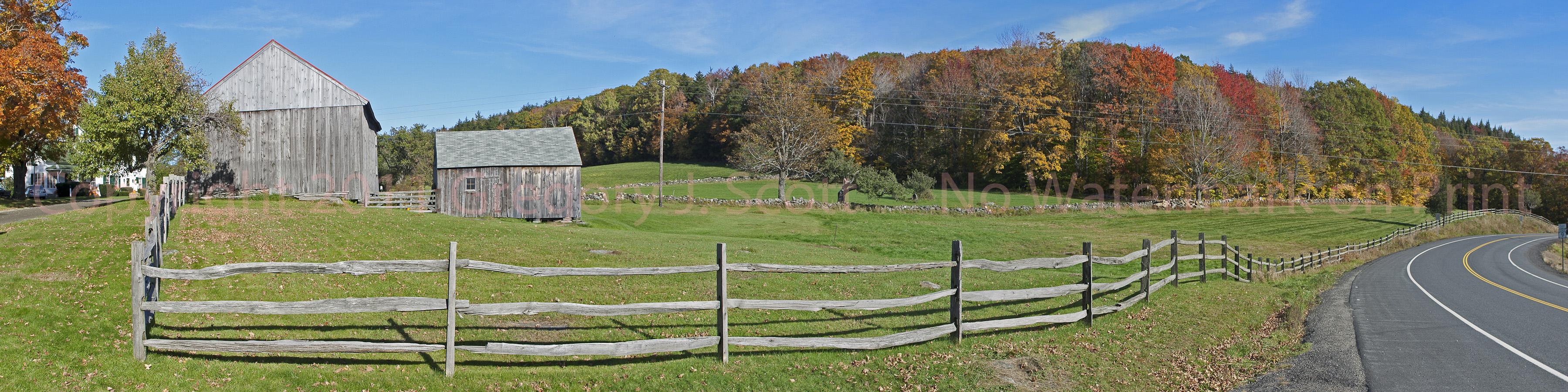 Farm With Split Rail Fence Copyright 2011 Gregory J Scott